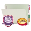Smead One Inch Expansion Folder, Two Fasteners, End Tab, Letter, Gray Green, 25/Box