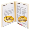 Smead W-Fold Manila Expansion Folders, Two Fasteners, End Tab, Letter, Manila, 50/Box