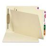 Smead Manila Folders, One Fastener, End Tab, Letter, 14pt Manila, 50/Box