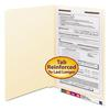 Smead Manila Folders, One Fastener, End Tab, Legal, 11pt Manila, 50/Box