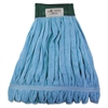Microfiber Looped-End Wet Mop Heads, Medium, Blue, 12/Carton, 12/Carton