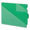 Out Guides w/Diagonal-Cut Pockets, Poly, Letter, Green, 50/Box