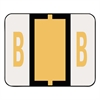 A-Z Color-Coded Bar-Style End Tab Labels, Letter B, Light Orange, 500/Roll