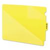Out Guides w/Diagonal-Cut Pockets, Poly, Letter, Yellow, 50/Box