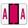 Smead A-Z Color-Coded Bar-Style End Tab Labels, Letter A, Red, 500/Roll