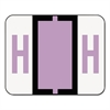 Smead A-Z Color-Coded Bar-Style End Tab Labels, Letter H, Lavender, 500/Roll