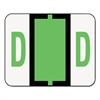 Smead A-Z Color-Coded Bar-Style End Tab Labels, Letter D, Light Green, 500/Roll