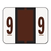 Smead Single Digit End Tab Labels, Number 9, Brown, 500/Roll
