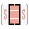 Smead A-Z Color-Coded Bar-Style End Tab Labels, Letter S, Pink, 500/Roll