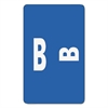 Alpha-Z Color-Coded Second Letter Labels, Letter B, Dark Blue, 100/Pack