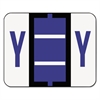 A-Z Color-Coded Bar-Style End Tab Labels, Letter Y, Violet, 500/Roll