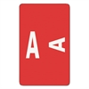 Smead Alpha-Z Color-Coded Second Letter Labels, Letter A, Red, 100/Pack
