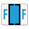 Smead A-Z Color-Coded Bar-Style End Tab Labels, Letter F, Blue, 500/Roll