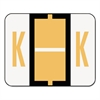 Smead A-Z Color-Coded Bar-Style End Tab Labels, Letter K, Light Orange, 500/Roll