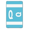 Smead Alpha-Z Color-Coded Second Letter Labels, Letter Q, Light Blue, 100/Pack