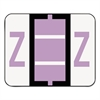 Smead A-Z Color-Coded Bar-Style End Tab Labels, Letter Z, Lavender, 500/Roll