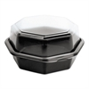 OctaView CF Containers, Black/Clear, 18oz, 6.76w x 6.3d x 3.15h, 200/Carton