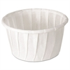 SOLO Cup Company Treated Paper Soufflé Portion Cups, 1 1/4 oz., White, 250/Bag