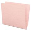 Colored File Folders, Straight Cut, Reinforced End Tab, Letter, Pink, 100/Box