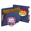 Smead Pressboard End Tab Classification Folders, Letter, 6-Section, Dark Blue, 10/Box