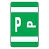 Alpha-Z Color-Coded Second Letter Labels, Letter P, Dark Green, 100/Pack
