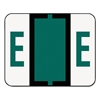 A-Z Color-Coded Bar-Style End Tab Labels, Letter E, Dark Green, 500/Roll