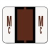 A-Z Color-Coded Bar-Style End Tab Labels, Letters Mc, Brown, 500/Roll