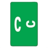 Alpha-Z Color-Coded Second Letter Labels, Letter C, Dark Green, 100/Pack