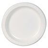 "Basic Paper Dinnerware, Plates, White, 8.5"" Diameter, 125/Pack, 4/Carton"