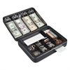 FireKing Hercules Cash Box, Keylock, Coin and Cash, 11 7/8 x 9 1/2 x 3 3/4, Charcoal Gray