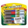 Crayola Dry Erase Marker, Chisel Tip, Assorted Colors, 8/Set
