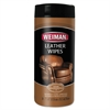 WEIMAN Leather Wipes, 7 x 8, 30/Canister, 4 Canisters/Carton