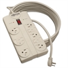 Tripp Lite TLP825 Surge Suppressor, 8 Outlets, 25 ft Cord, 1440 Joules, Light Gray