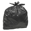 Large Trash Bags, 33 gal, 0.75 mil, 32 1/2 x 40, Black, 50/BX, 6 BX/CT