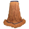 Mop Head, Super Loop Head, Cotton/Synthetic Fiber, X-Large, Green, 12/Carton