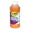 Crayola Artista II Washable Tempera Paint, Orange, 16 oz