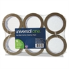 "Universal Heavy-Duty Box Sealing Tape, 48mm x 50m, 3"" Core, Tan, 6/Pack"