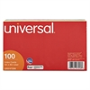 Universal Index Cards, 5 x 8, Blue/Salmon/Green/Cherry/Canary, 100/Pack