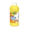 Crayola Washable Fingerpaint, Yellow, 16 oz