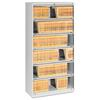 Tennsco Closed Fixed Shelf Lateral File, 36w x 16 1/2d x 75 1/4, Light Gray