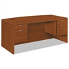 Valido 11500 Bow Top Double Pedestal Desk, 72w x 36d x 29 1/2h, Bourbon Cherry