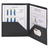 Frame View Poly Two-Pocket Folder, 11 x 8 1/2, Clear/Black, 5/Pack