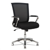 Alera Alera ENR Series Mid-Back Slim Profile Mesh Chair, Black/Chrome