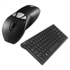 Air Mouse GO Plus Combo with Compact Keyboard, USB, Black/Silver