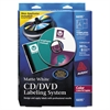 Avery CD/DVD Design Labeling Kits, Matte White, 30 Laser Labels and 8 Inserts