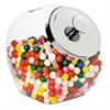 Glass Jar w/Lid, 1 Gallon, Glass/Chrome