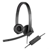 USB H570e Over-the-Head Wired Headset, Binaural, Black