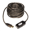 Tripp Lite USB 2.0 Active Extension Repeater Cable, 33 ft, Black
