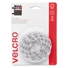 Velcro Sticky-Back Hook and Loop Dot Fasteners, 5/8 Inch, White, 75/Pack