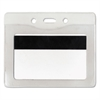 Advantus Security ID Badge Holder, Horizontal, 3 3/8w x 4 1/4h, Clear, 50/Box